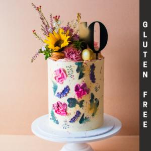 Gluten Free Contemporary flower cake