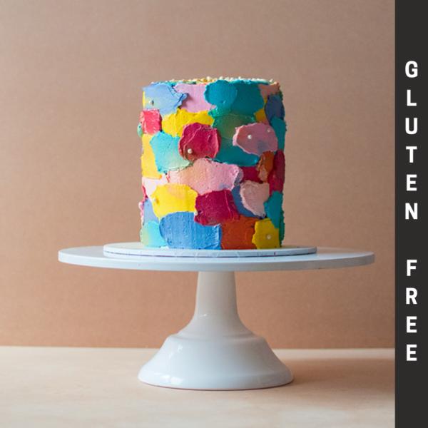 Colourful rainbow cake Gluten Free