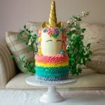 Cute unicorn cake by Ruwi's Cakes