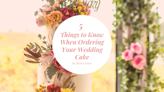 Blog Banner - 5 Things to Know When Ordering Your Wedding Cake