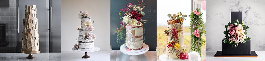 Top 6 wedding cake trends - Blog Banner