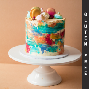 Gluten Free Colourful Cake with macaroons